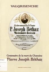Centenaire de la mort du chanoine Pierre Joseph Béthaz