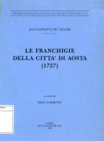 Le franchigie della città di Aosta (1727)