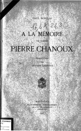 A la mémoire de l'abbé Pierre Chanoux