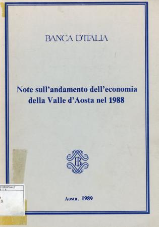 Note sull'andamento dell'economia della Valle d'Aosta nel 1988