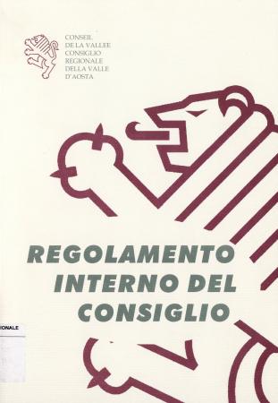 Regolamento interno per il funzionamento del Consiglio regionale