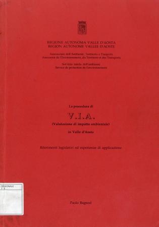 La procedura di VIA, valutazione di impatto ambientale, in Valle d'Aosta