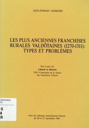 Les plus anciennes franchises rurales valdôtaine (1270-1311)