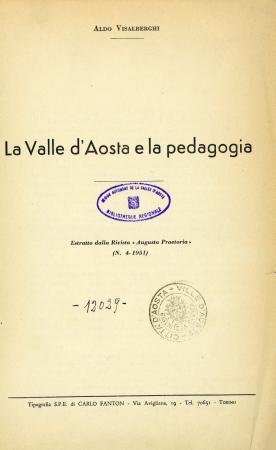 La Valle d'Aosta e la pedagogia