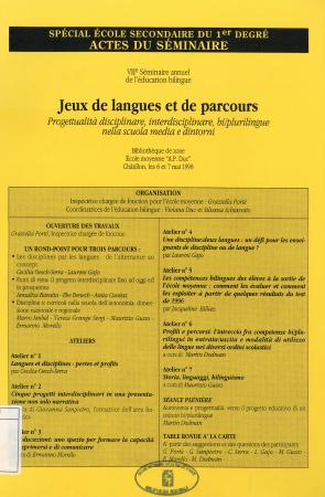 Jeux de langues et de parcours