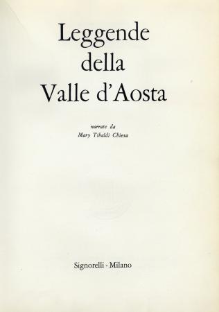Leggende della Valle d'Aosta