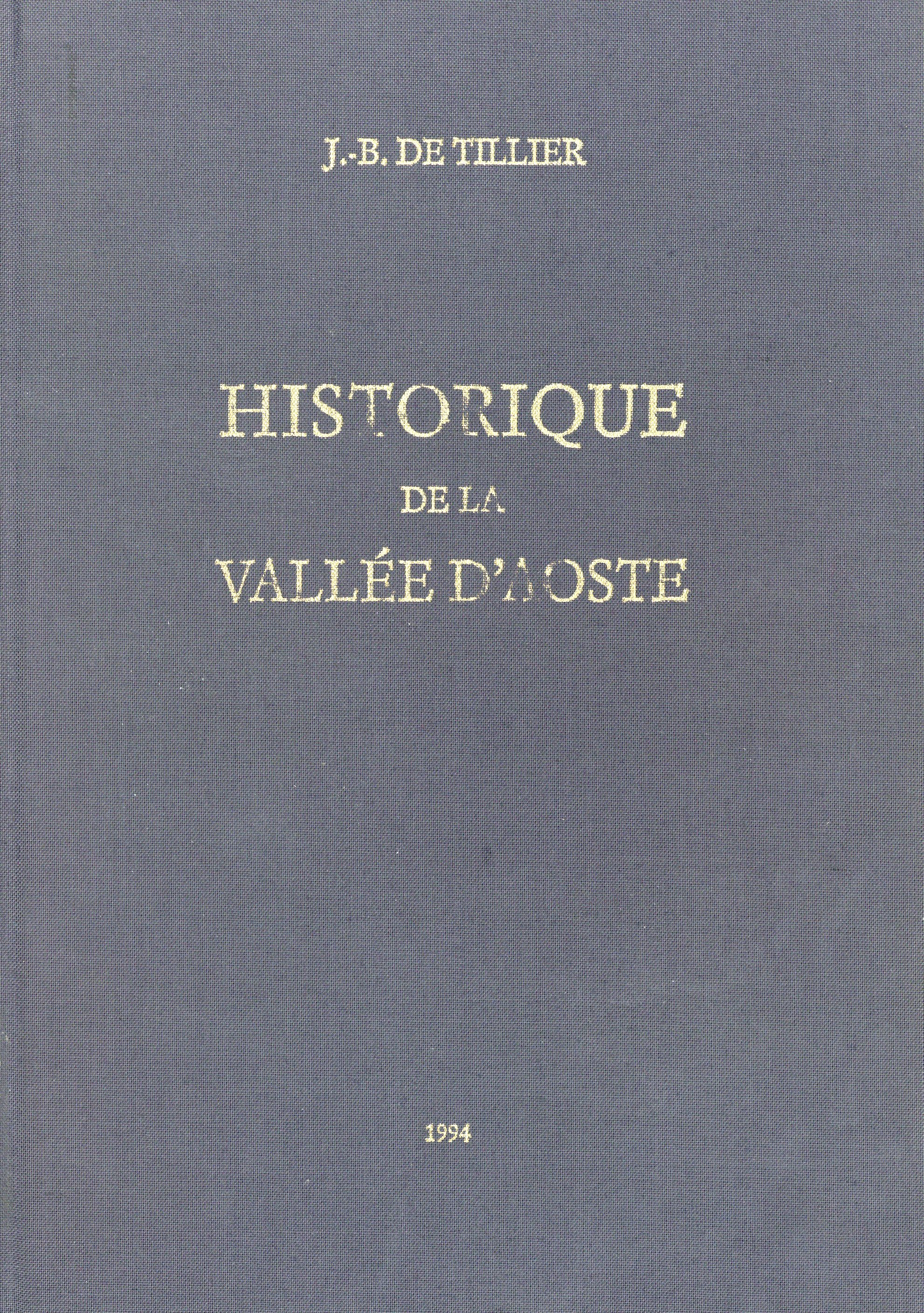 Historique de la Vallée d'Aoste